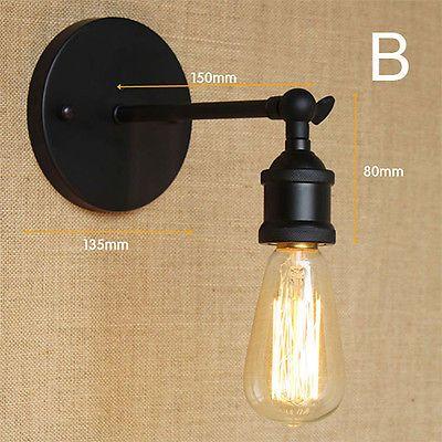 Mezzanine Rustique Applique Lampe Murale Industriel Rétro Nnw8vm0