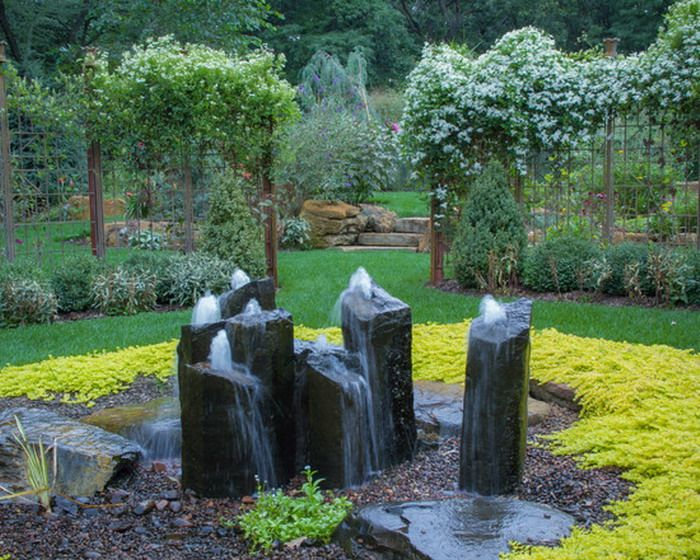 Stone Outdoor Patio Water Fountains