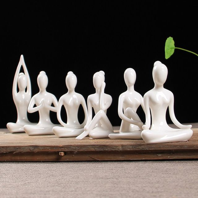 WGLG Adornos modernos de interior creativos para yoga decoraci/ón vintage para el hogar personaje sal/ón figura bonita para chica