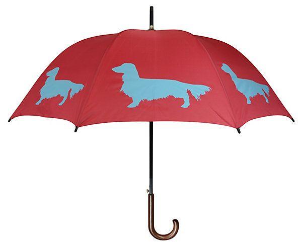 One Kings Lane Rainy Days Ahead Stick Umbrella Long Haired