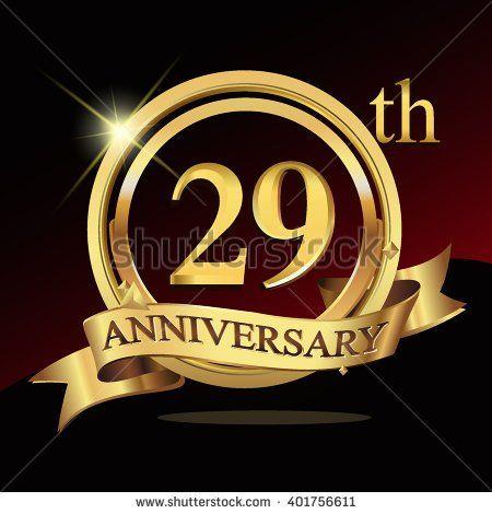 29th Golden Anniversary Logo 29 Years Anniversary Celebration