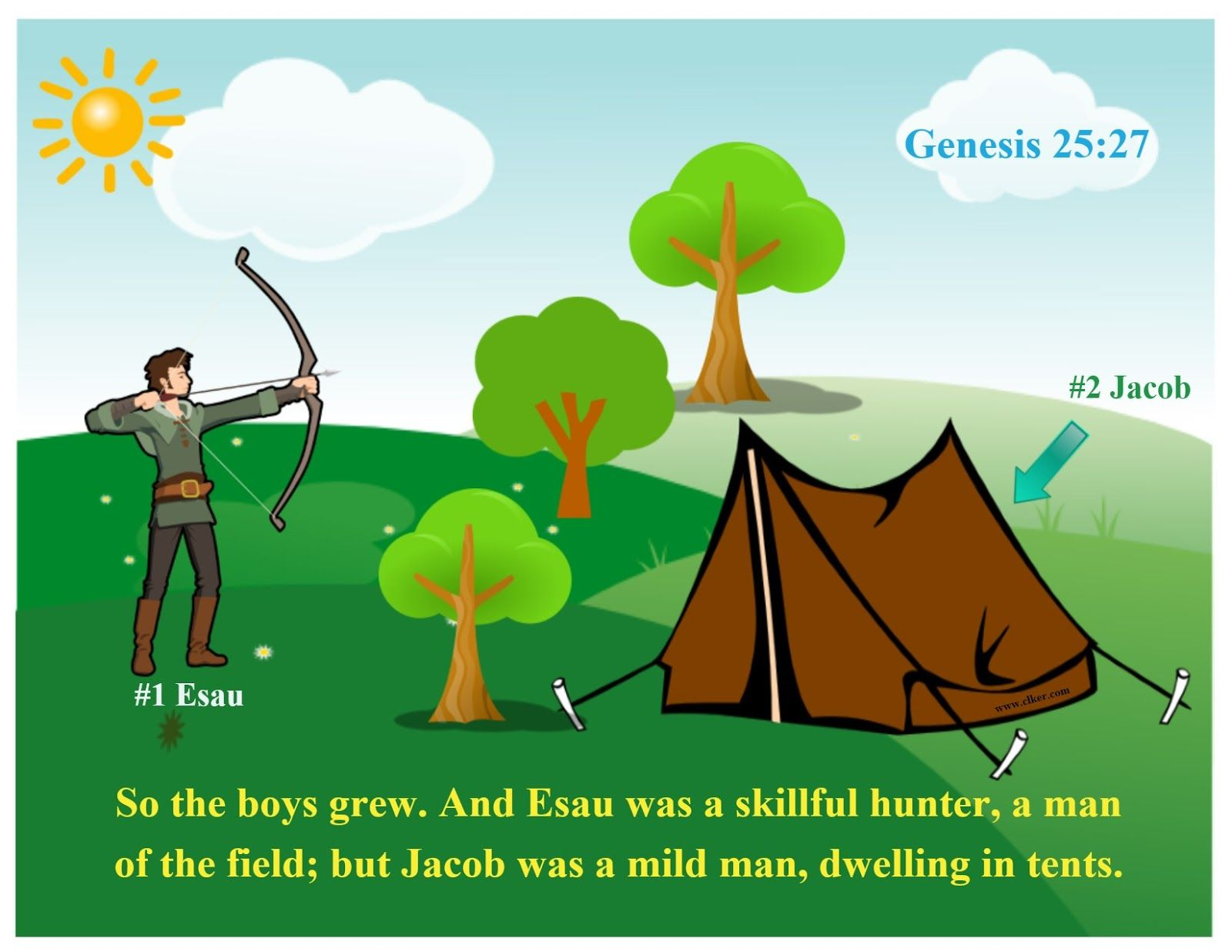 For this Jacob & Esau lesson, I set up areas in the classroom and we ...
