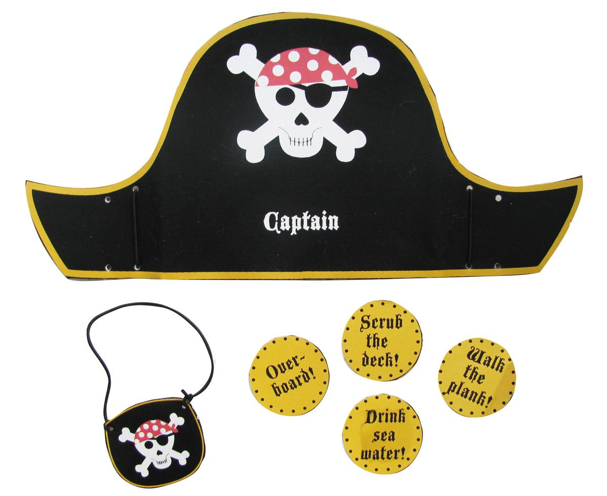 pirate hat template pirate hat and eye patch craft kit believe you zoe 39 s 4th. Black Bedroom Furniture Sets. Home Design Ideas