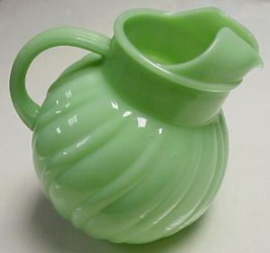 I Think These Fire King Jadite Pitchers Are Rare But Not For