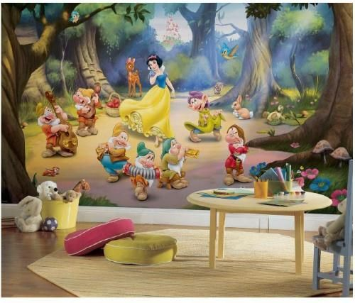 PRINCESS SNOW WHITE /& 7 DWARFS KIDS WALL DECALS for kids or nusery
