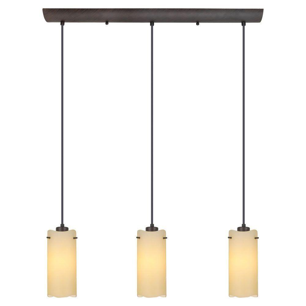 eclairage de cuisine eglo severo 3 light antique brown hanging island light 20958a the home depot