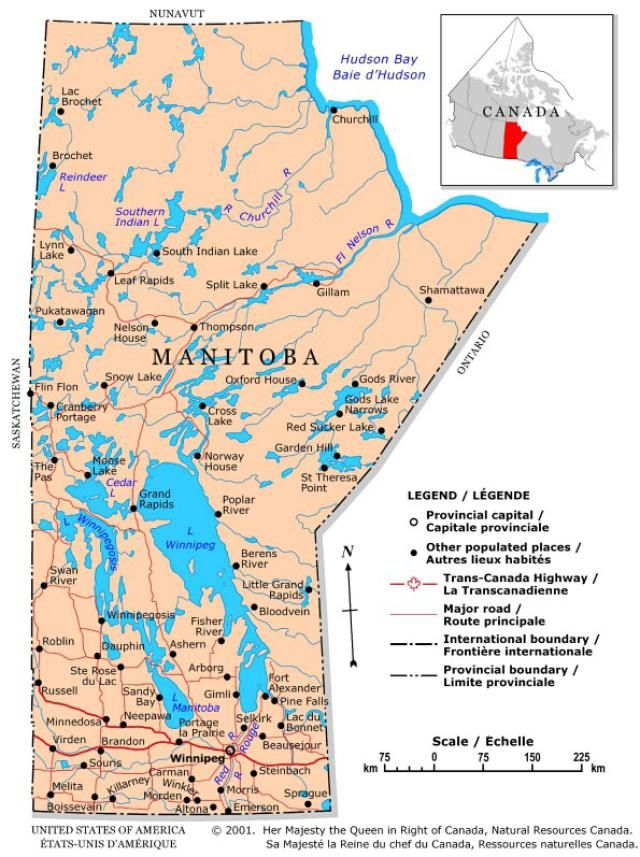 map of lake manitoba Discover Canada With These 20 Maps Canada Map Discover Canada map of lake manitoba