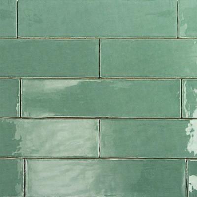 polished ceramic subway wall tile