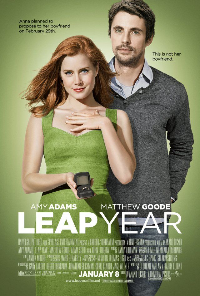 """""""Leap Year""""  This is such a cute movie.  I also appreciate it because there isn't a lot of bad language or nudity which is rare in a movie these days."""