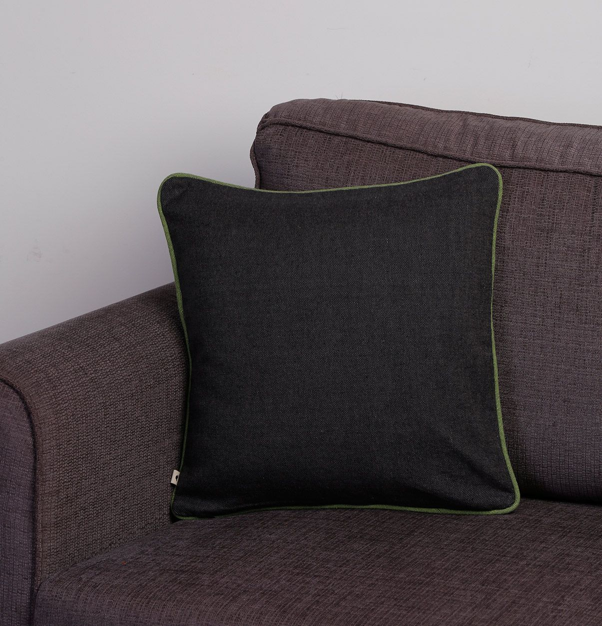 Grey green cushion cover uxu lift the look of the cushions in