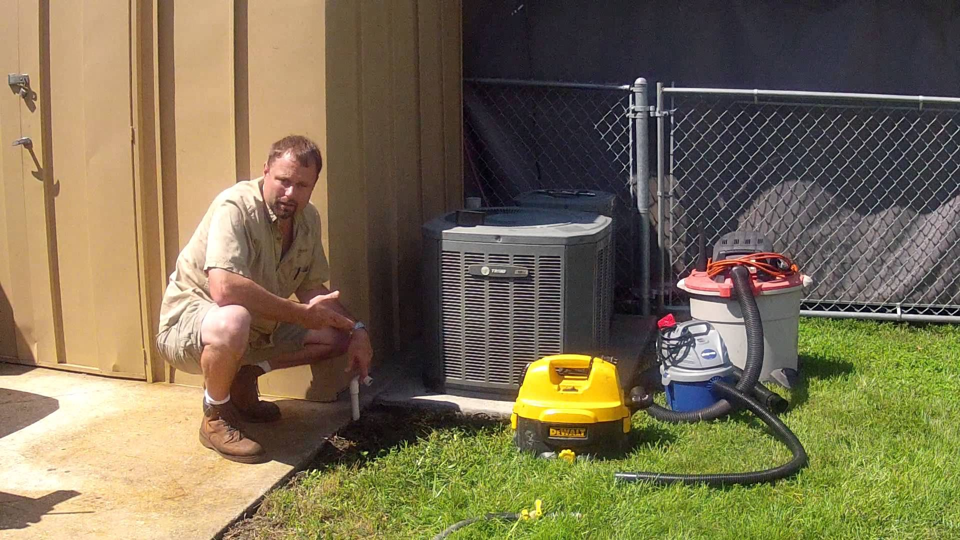 Cleaning ac drain line cleaning condensate drain duct
