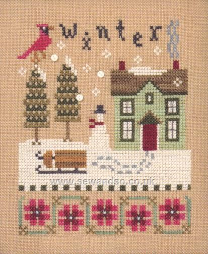 Buy Winter 4 Seasons Flip It Chart with Buttons Online at www.sewandso.co.uk