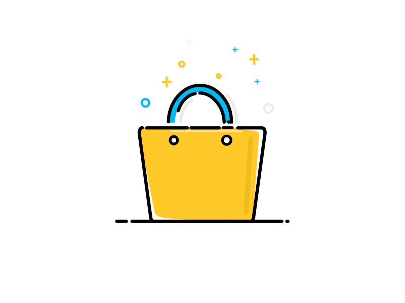 Shopping Bag App Icon Design Cute App Bag Illustration