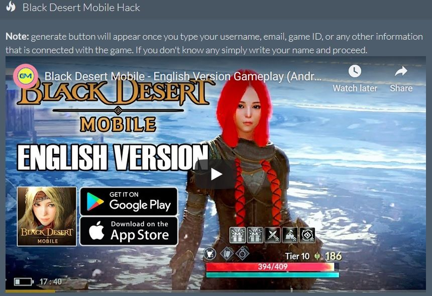 Black Desert Online Review 2020.Black Desert Mobile Hack Ios Working Free Pearls Cheats