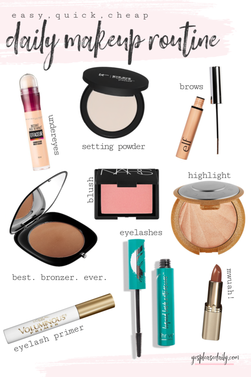 Daily Makeup Routine Easy, Quick, Cheap Daily makeup