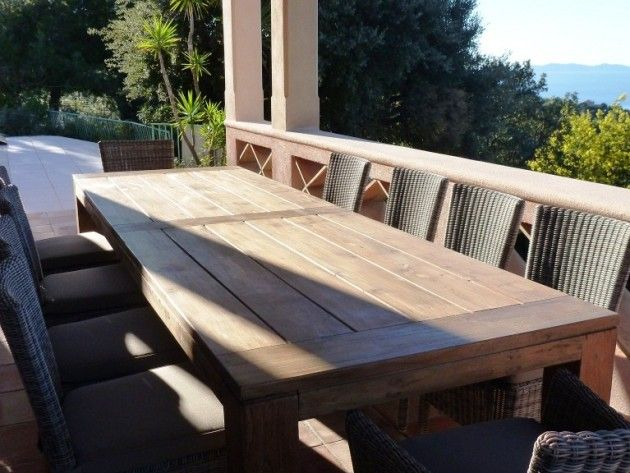 Beautiful Table De Jardin En Teck Brut Pictures - Amazing House ...