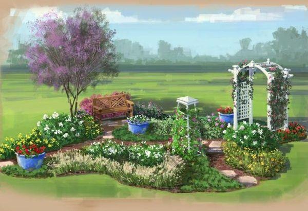 mehrjährige Pflanzen Gartenplanung vorbereiten Holz Pergola - gartenplanung selbst gemacht