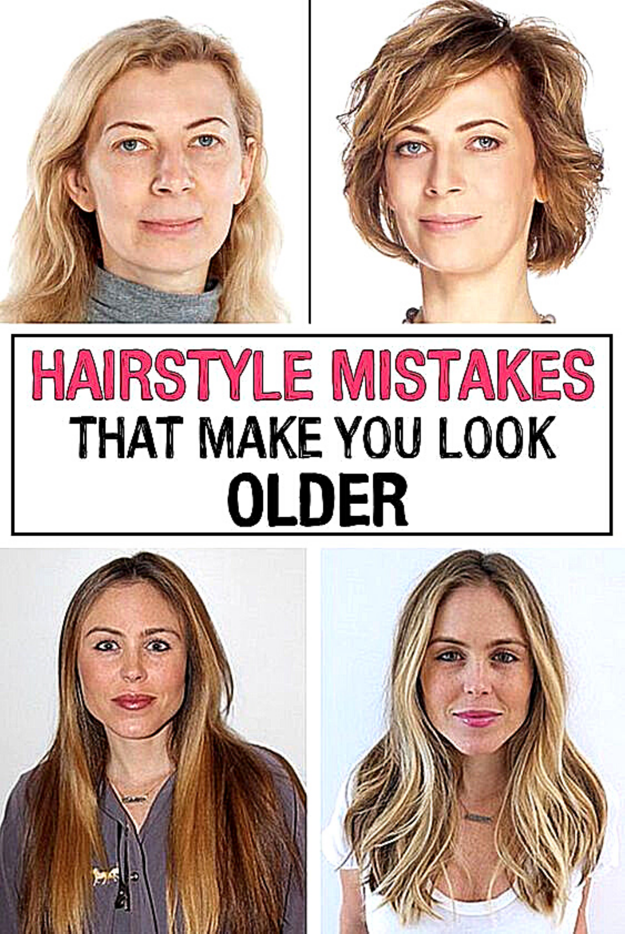 11 Hairstyle Mistakes That Are Aging You In 2020 Older Women Hairstyles Hair Mistakes Womens Hairstyles