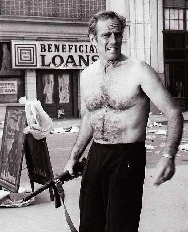 Charlton Heston in The Omega Man, one of Robert Gosstray's favorite movies.