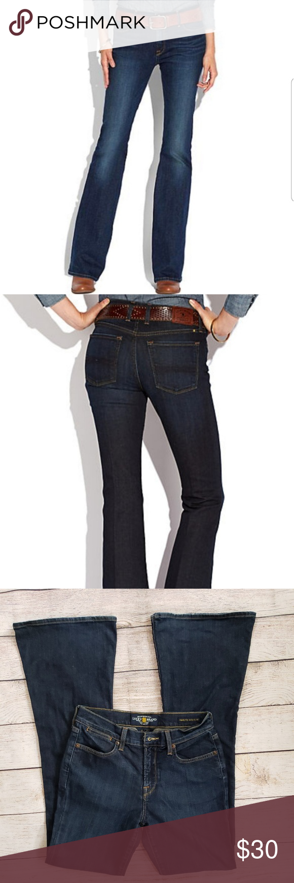 Lucky Brand Jeans Womens Charlotte Kick Flare Denim Jeans