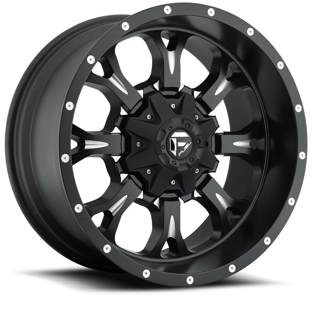 20 Fuel Krank D517 Matte Black Milled Wheel 20x9 8 Lug 8x180 20mm Chevy Truck Fuel In 2020 Fuel Wheels Jeep Wheels Black Wheels