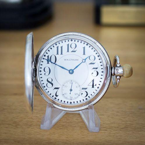 Waltham Sterling Silver 15 Jewel Full Hunter | Time Pocket