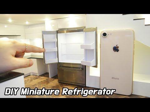 tutorial: miniature refrigerator #dollhouseminiaturetutorials