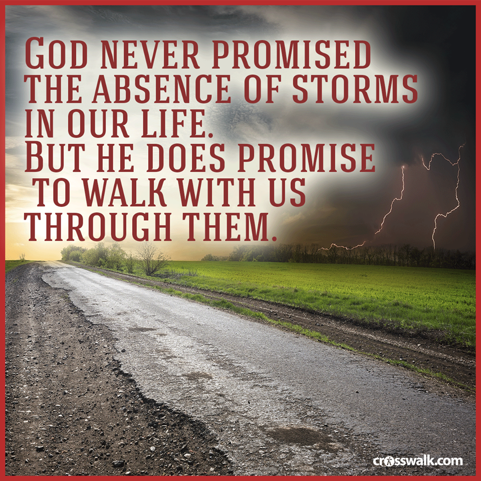 God never Promise a storm free life! Inspiring words