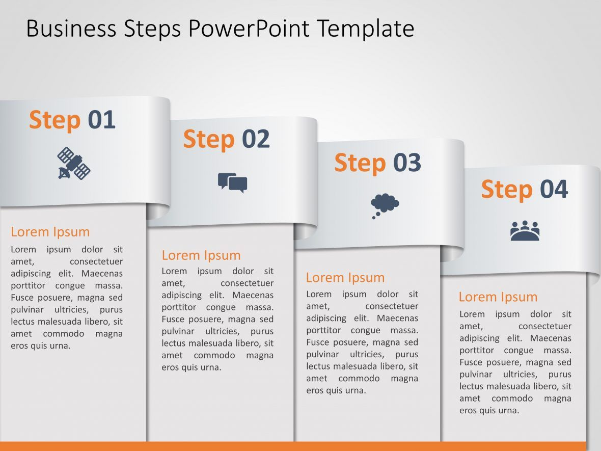 Business Steps Powerpoint Template Powerpoint Templates