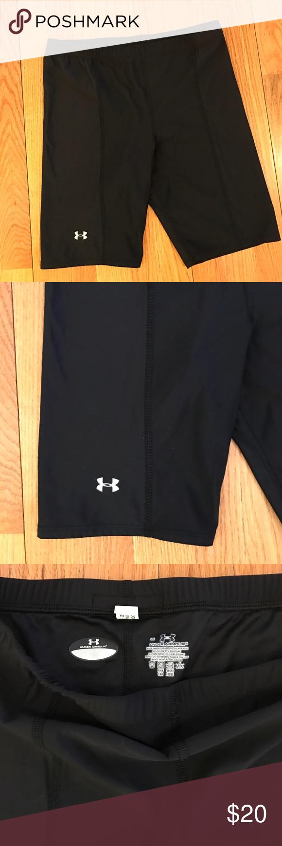 Men's Under Armour Compression Shorts Men's Under Armour Compression Shorts. Size Large. Black. 85% Nylon, 15% Elastane. Great condition. Under Armour Shorts