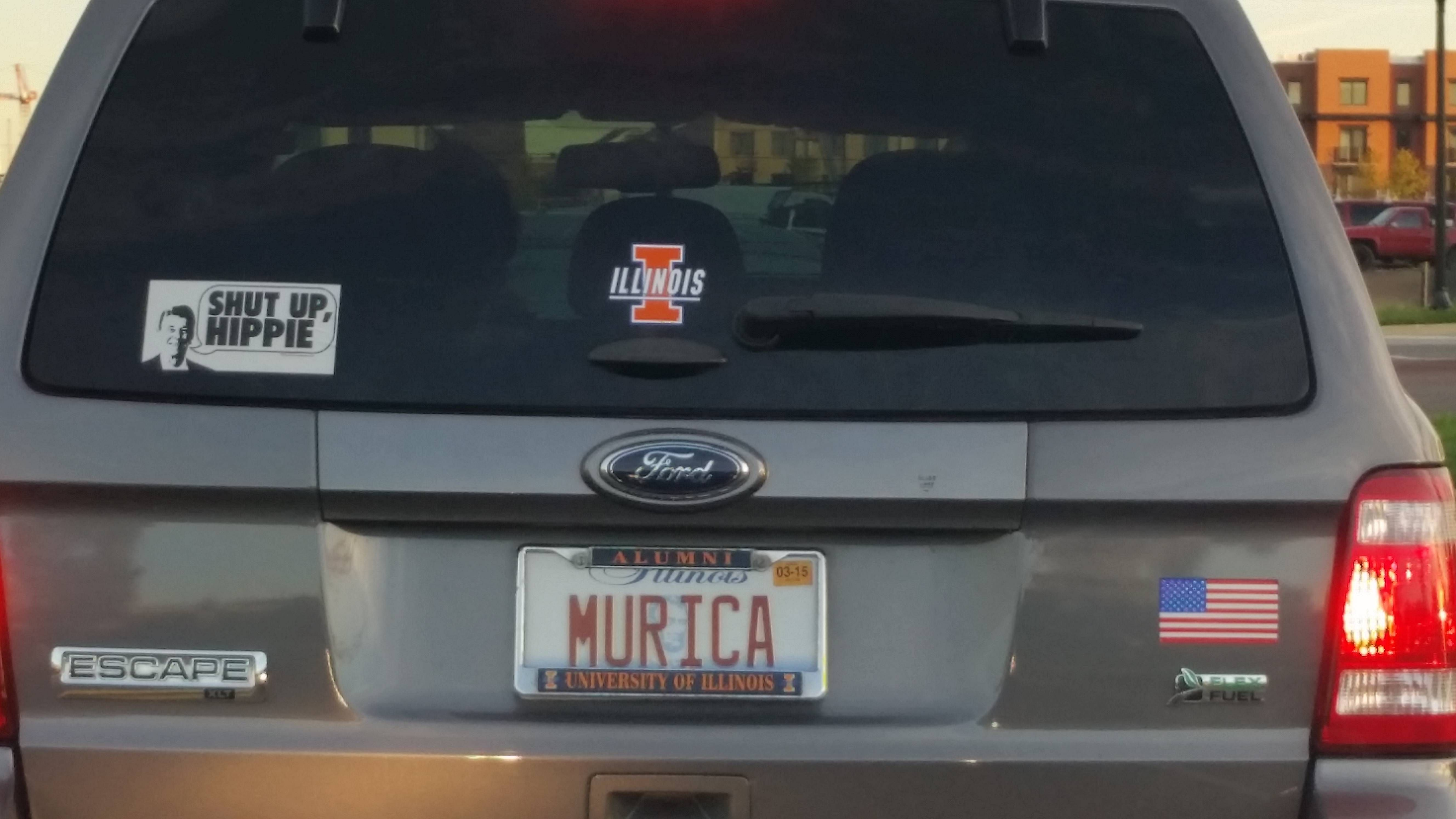 Murica License Plate Makes This The Most Murica Ford Escape Out