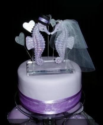 cake topper | Wedding Ideas | Pinterest | Seahorses, Wedding cake ...