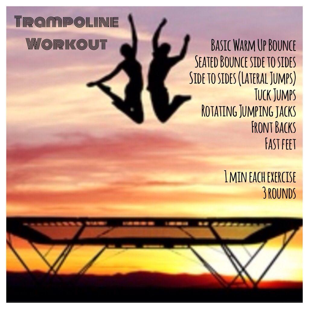 Fun trampoline workout