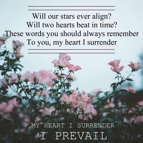 I Prevail With Images I Prevail Lyrics I Surrender Lyrics