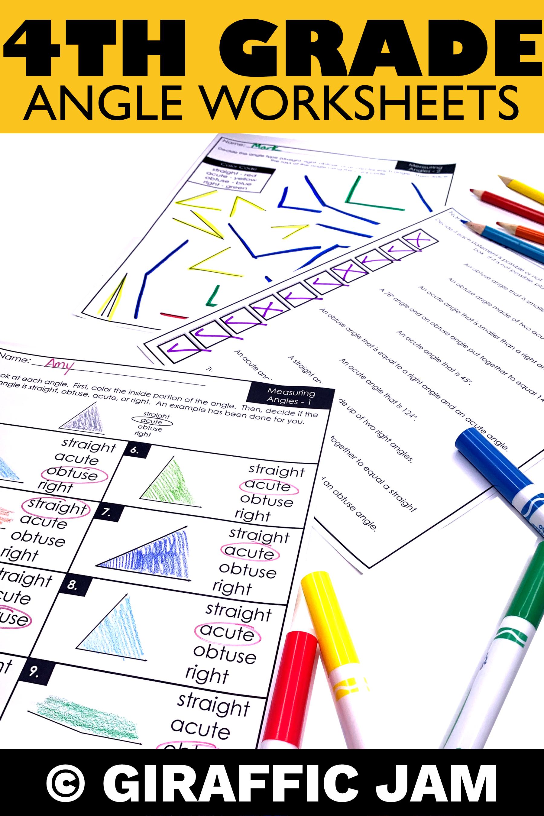 4th Grade Angle Measurement Worksheets With Digital Google Slides Version Measurement Homework Measurement Worksheets Angles Worksheet [ 2700 x 1800 Pixel ]