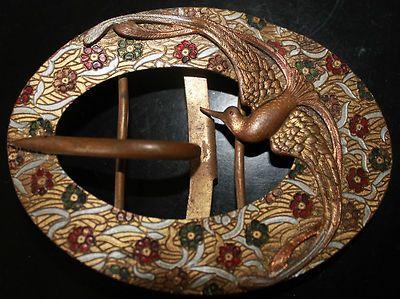 Boucle De Ceinture Art Nouveau D Cor D 39 Oiseau De Paradis