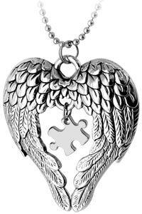 Autism heart necklace