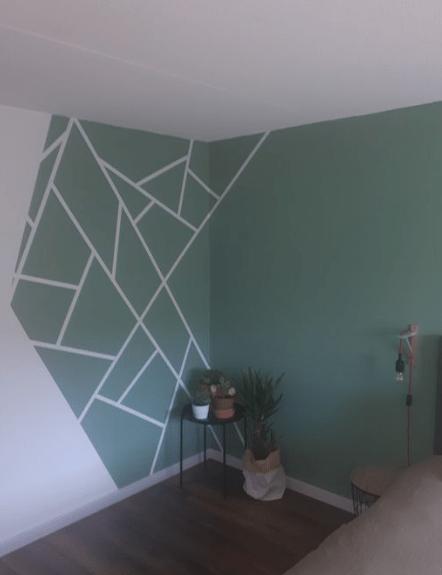 25 Diy Tape Mural Wall Art Paint Ideas Eweddingmag Com Bedroom Wall Paint Feature Wall Bedroom Bedroom Wall Designs