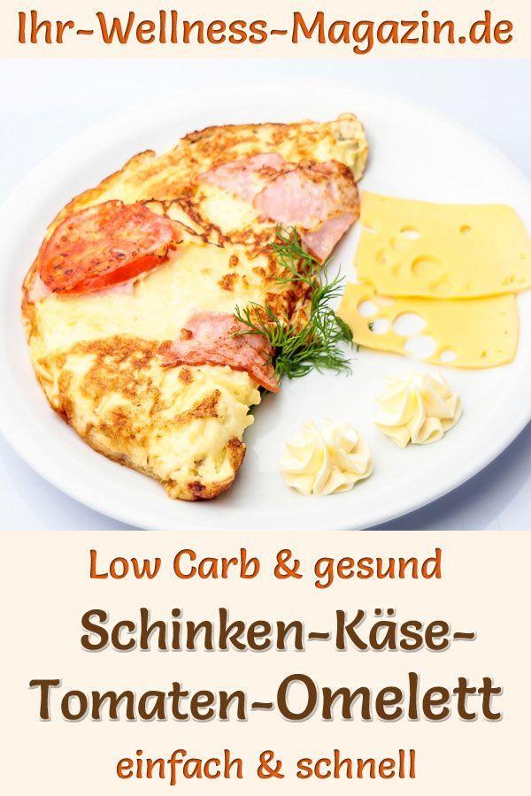 Tortilla de jamón, queso y tomate: receta saludable baja en carbohidratos para el desayuno - Receta...