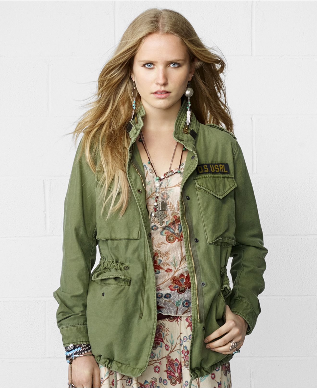 Denim & Supply Ralph Lauren Hooded Military Field Jacket - Coats - Women -  Macy's