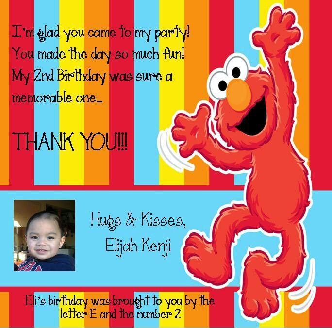 Eli's thank you card