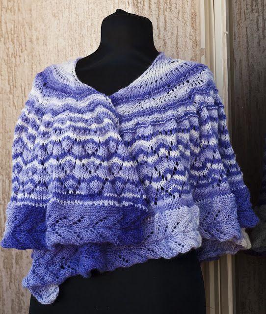 Free #lace #shawl #pattern / #Kostenlos #Muster #Lochmuster #Schal ...