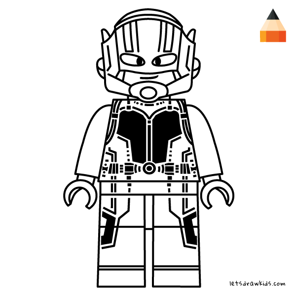 Coloring Page For Kids Drawing Ant Man Lego Coloring Pages Lego Coloring Ant Man Lego