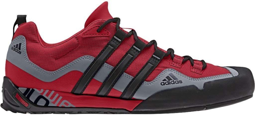 Buy Adidas Outdoor Terrex Swift Solo Approach Shoe Men S University Red Black Lead 7 At Amazon In Shoes Mens Adidas Outfit Shoes Sport Shoes Fashion