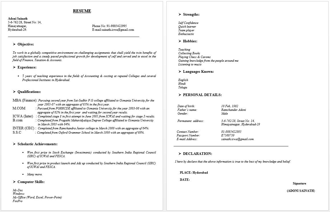 11++ Do i put address on resume ideas in 2021