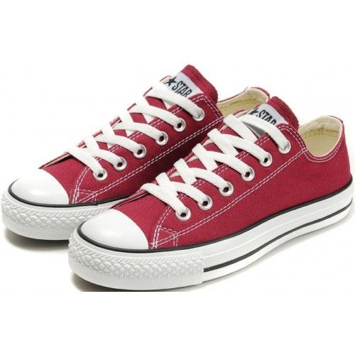 710ac5647556 Converse Shoes Burgundy Chuck Taylor All Star Classic Womens Mens Canvas Lo  Sneakers