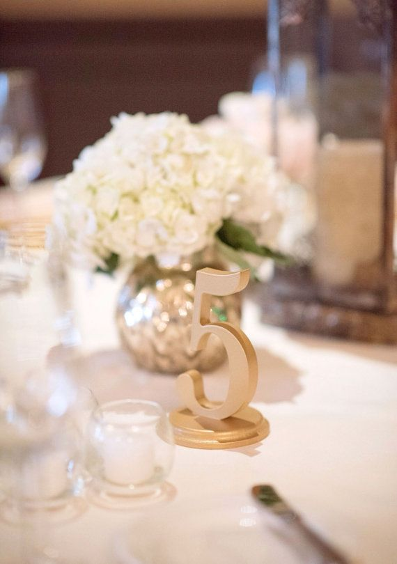 Gold Table Numbers for Wedding Decor, Centerpieces Custom Vintage ...