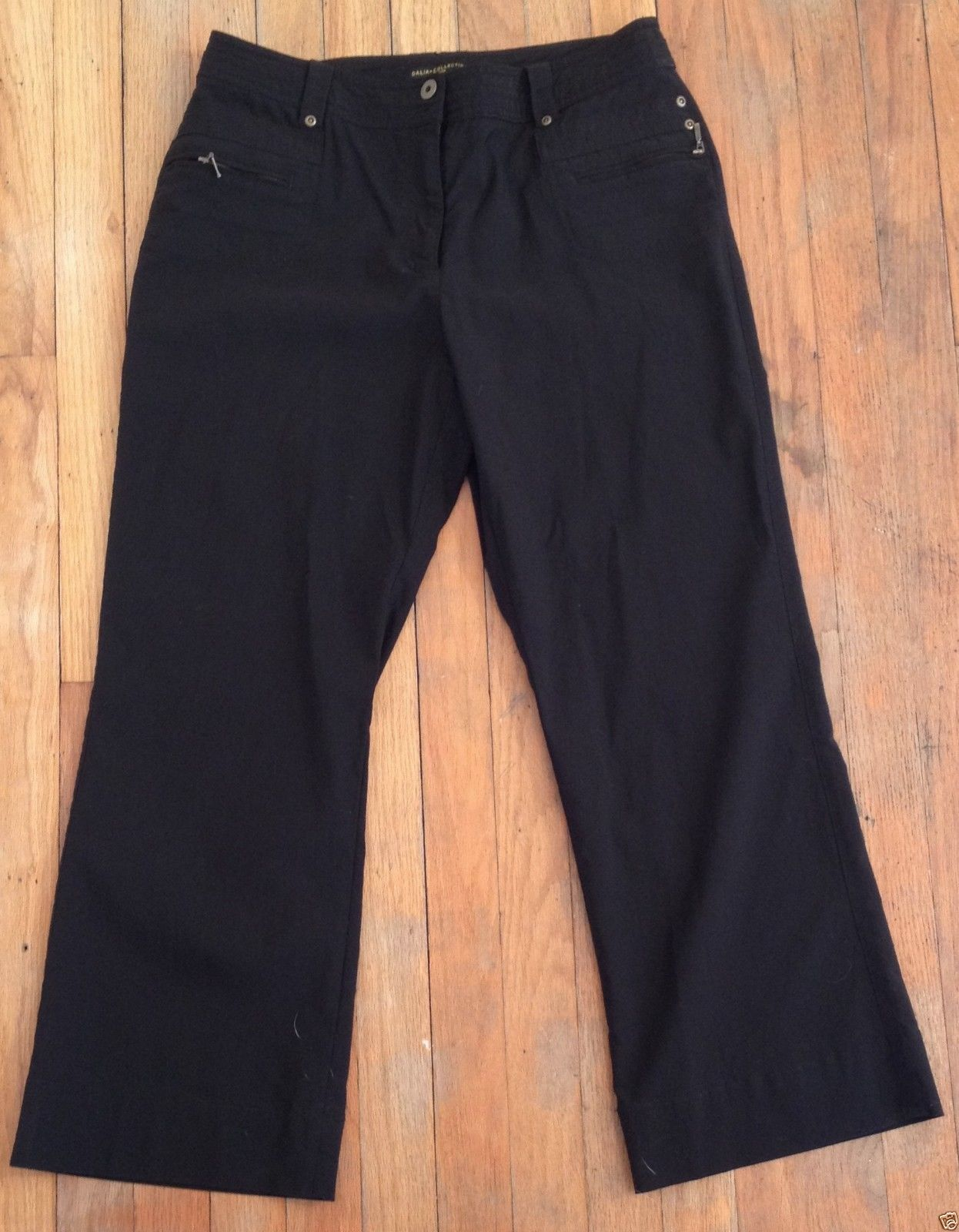 Dalia Collection Black Stretch Petite Dress Pants Slacks Stretch 12P 32x27 | eBay #RecycledCouture #Fashion #eBay