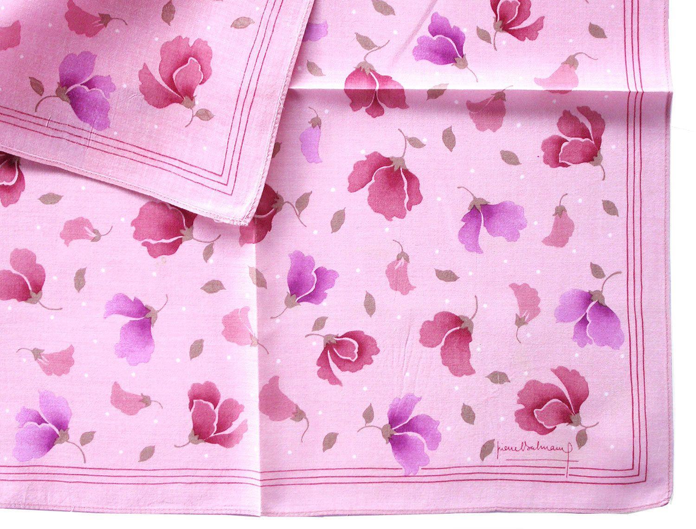Japanese Handkerchief Vintage Handkerchief Women Handkerchief Birthday Gift Cherry Blossom Made in Japan 19.5 x 19