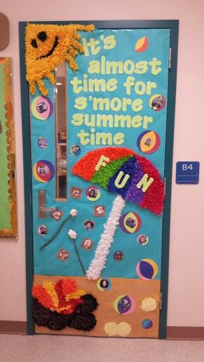 Summer Time End Of Year Classroom Theme Doors Diy Classroom